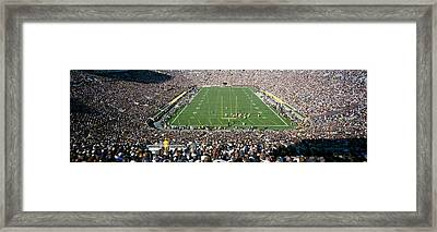Aerial View Of A Football Stadium Framed Print