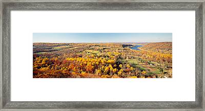 Aerial View Of A Landscape, Delaware Framed Print by Panoramic Images
