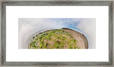 Aerial View Of A Landscape, Huntington Framed Print by Panoramic Images