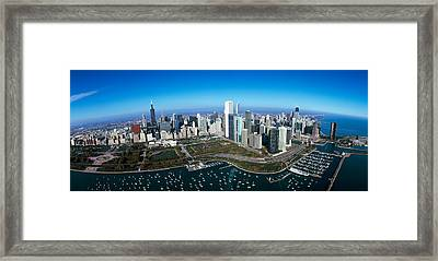 Aerial View Of A Park In A City Framed Print