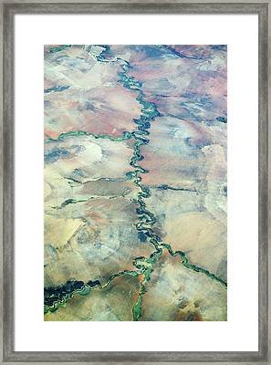 Aerial View Of A River Framed Print by Dr P. Marazzi