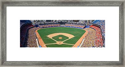 Aerial View Of A Stadium, Dodger Framed Print by Panoramic Images