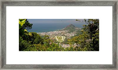 Aerial View Of A Town On An Island Framed Print by Panoramic Images