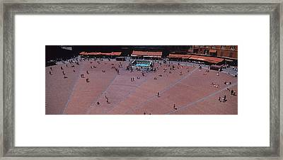 Aerial View Of A Town Square, Palazzo Framed Print by Panoramic Images