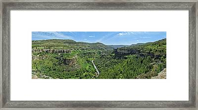 Aerial View Of A Valley, Rincon Seco Framed Print