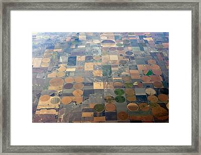 Aerial View Of Agriculture In The Usa Framed Print