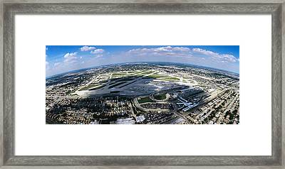 Aerial View Of An Airport, Midway Framed Print by Panoramic Images