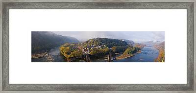 Aerial View Of An Island, Harpers Framed Print by Panoramic Images