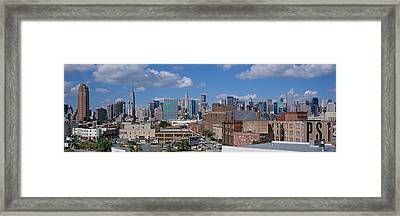 Aerial View Of An Urban City, Queens Framed Print