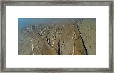 Aerial View Of Beach, Mount Desert Framed Print