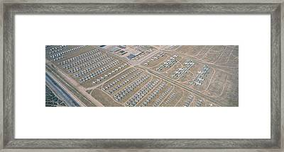 Aerial View Of Bone Yard, F4 Fighter Framed Print by Panoramic Images