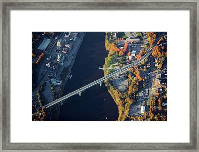 Aerial View Of Bridge To Augusta, Maine Framed Print