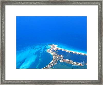 Aerial View Of Cancun Framed Print by Patti Whitten
