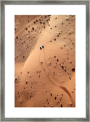 Aerial View Of Cars Driving Through Framed Print by Claudia Fernandes / Eyeem