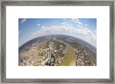 Aerial View Of City, London, England, Uk Framed Print by Mattscutt