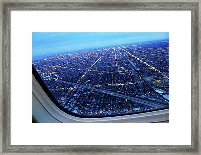Aerial View Of Cityscape Seen Through Framed Print by Sujata Jana / Eyeem