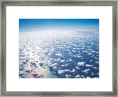 Aerial View Of Clouds And Sky Framed Print