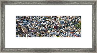 Aerial View Of Colorful Houses Framed Print by Panoramic Images