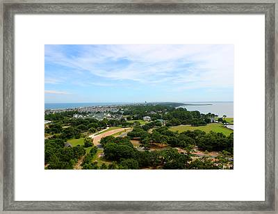 Aerial View Of Corolla North Carolina Outer Banks Obx Framed Print by Design Turnpike