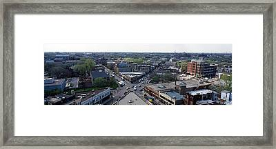 Aerial View Of Crossroad Of Six Framed Print by Panoramic Images