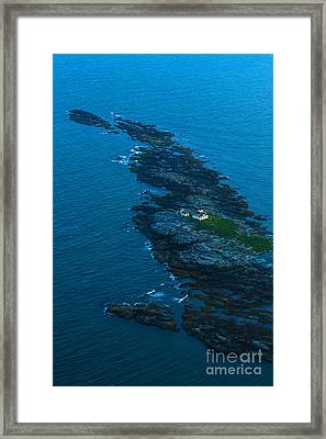 Aerial View Of Egg Rock Lighthouse Framed Print