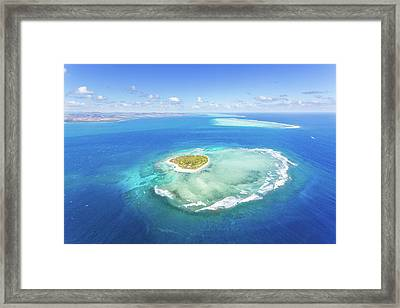 Aerial View Of Heart Shaped Island Framed Print by Matteo Colombo