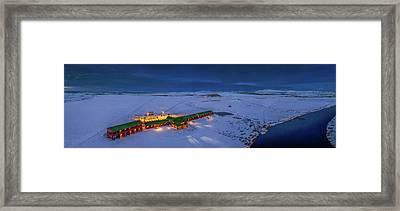 Aerial View Of Hotel Ranga Framed Print