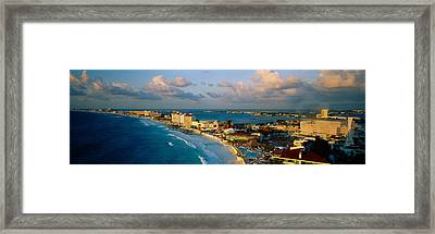 Aerial View Of Hotels And Resorts Framed Print by Panoramic Images