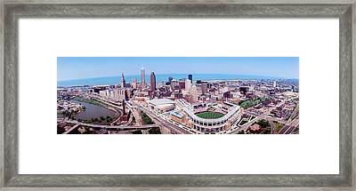 Aerial View Of Jacobs Field, Cleveland Framed Print by Panoramic Images