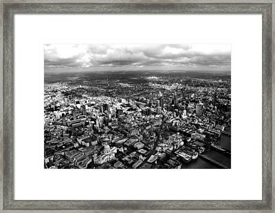 Aerial View Of London 2 Framed Print by Mark Rogan