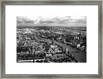 Aerial View Of London Framed Print by Mark Rogan