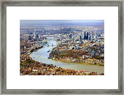 Aerial View Of  London Framed Print by Vladimir Zakharov