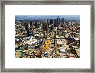 Aerial View Of Los Angeles Framed Print
