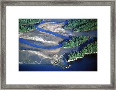 Aerial View Of Manzanita River Delta At Framed Print by Chip Porter