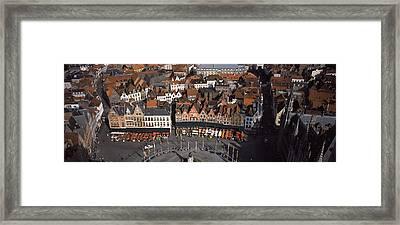 Aerial View Of Marktplatz Framed Print