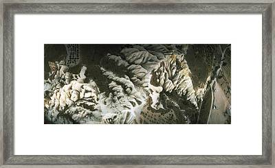 Aerial View Of Rock Formations Framed Print