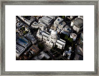 Aerial View Of St Pauls Cathedral Framed Print