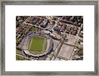 Aerial View Of Stadio Mario Rigamonti Framed Print by Blom ASA