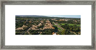 Aerial View Of Stanford University Framed Print