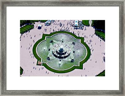 Aerial View Of The Buckingham Fountain Framed Print by Panoramic Images
