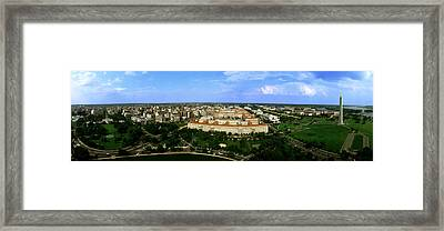 Aerial View Of The City, Washington Dc Framed Print by Panoramic Images