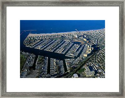 Aerial View Of The Marina Del Rey, Los Framed Print by Panoramic Images