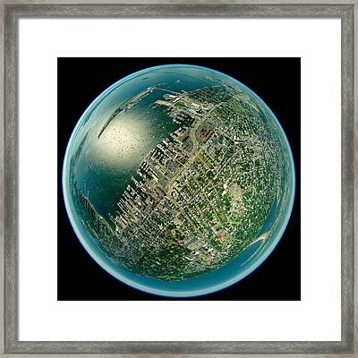 Aerial View Of The Rhode Island, Usa Framed Print