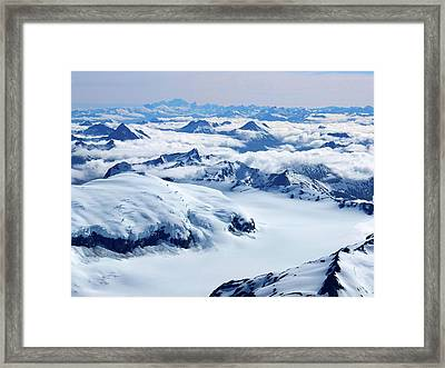 Aerial View Of The Southern Alps Of New Framed Print by Thierrylevenq