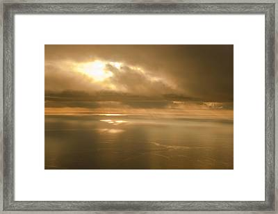 Aerial View Of The Sunrise Reflecting Framed Print