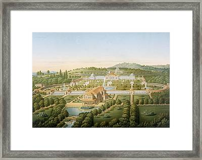 Aerial View Of The Villa Of King Framed Print by German School