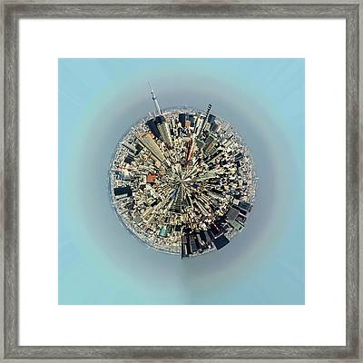 Aerial View Of Urban Landscape Of Tokyo Framed Print by Photography By Zhangxun