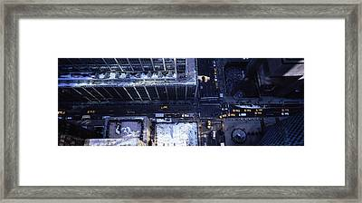 Aerial View Of Vehicles On The Road Framed Print by Panoramic Images