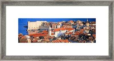 Aerial View, Old Town, Dubrovnik Framed Print