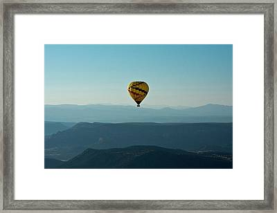 Aerial View, Red Rock Country, Sedona Framed Print by Michel Hersen